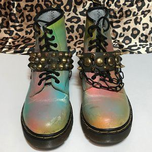 Punk DIY Altered Doc Martens with Boot Straps